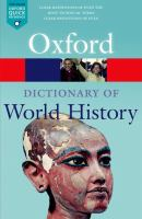A dictionary of world history [electronic resource].