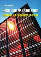 Solar power generation [electronic resource] : technology, new concepts & policy
