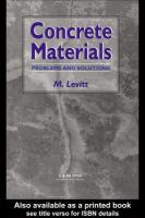 Concrete materials [electronic resource] : problems and solutions