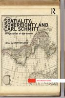 Spatiality, sovereignty and Carl Schmitt [electronic resource] : geographies of the nomos