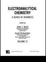 Electroanalytical chemistry [electronic resource] : a series of advances. Vol. 21