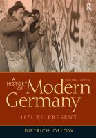 A history of modern Germany : 1871 to present