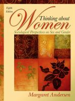 Thinking about women : sociological perspectives on sex and gender