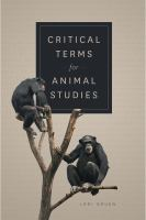 Critical terms for animal studies /