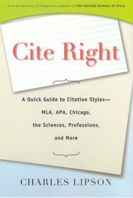 cover of the e-book Cite Right