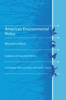 American environmental policy [electronic resource] : beyond gridlock