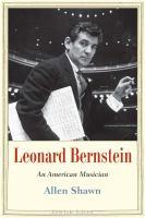 Leonard Bernstein : an American musician