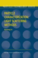 Particle Characterization: Light Scattering Methods [electronic resource]