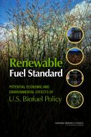 Renewable fuel standard [electronic resource] : potential economic and environmental effects of U.S. biofuel policy