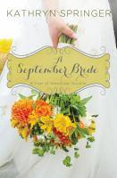 A september bride.