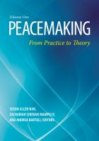 Peacemaking [electronic resource] : from practice to theory