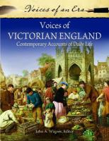 Voices of Victorian England : contemporary accounts of daily life