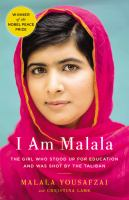 book cover I am Malala : the girl who stood up for education and was shot by the Taliban