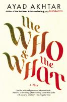 The who and the what : a play