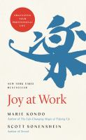 Title: Joy at work : organizing your professional life Author:Kond?, Marie