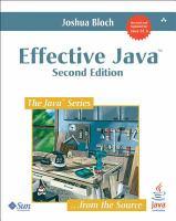 Effective Java [electronic resource]