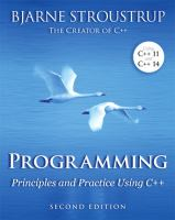 Programming : principles and practice using C++