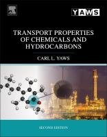 Transport properties of chemicals and hydrocarbons [electronic resource]