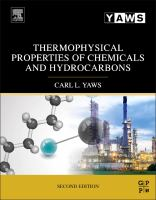 Thermophysical properties of chemicals and hydrocarbons [electronic resource]