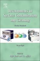 Developments in surface contamination and cleaning. Volume 8 [electronic resource] : cleaning techniques
