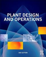 Plant design and operations [electronic resource]