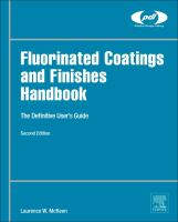 Fluorinated catings and finishes handbook [electronic resource] : the definitive user's guide.