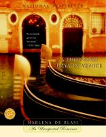 THOUSAND DAYS IN VENICE : AN UNEXPECTED ROMANCE