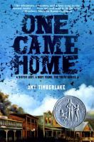 One Came Home, by Amy Timberlake