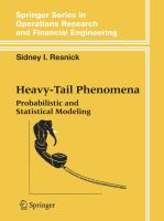 Heavy-tail phenomena [electronic resource] : probabilistic and statistical modeling