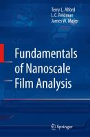 Fundamentals of nanoscale film analysis [electronic resource]