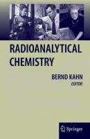 Radioanalytical chemistry [electronic resource]