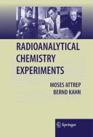 Radioanalytical Chemistry Experiments [electronic resource]