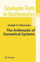 The arithmetic of dynamical systems [electronic resource]