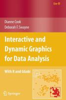 Interactive and Dynamic Graphics for Data Analysis [electronic resource] : with R and GGobi