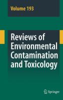 Reviews of Environmental Contamination and Toxicology. Vol. 193 [electronic resource]
