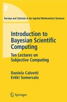 Introduction to Bayesian scientific computing [electronic resource] : ten lectures on subjective computing