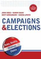 Campaigns & elections : rules, reality, strategy, choice : 2012 election update