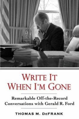 cover of the book  Write it When I'm Gone