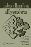 The handbook of human factors and ergonomics methods [electronic resource]