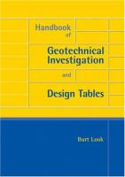 Handbook of geotechnical investigation and design tables [electronic resource]