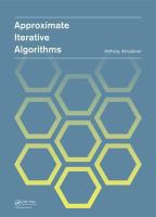 Approximate iterative algorithms [electronic resource]