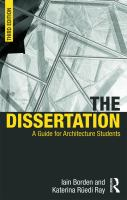 The dissertation : a guide for architecture students
