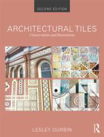 Architectural tiles : conservation and restoration