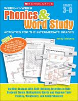 Week-by-week Phonics & Word Study