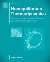 Nonequilibrium thermodynamics [electronic resource] : transport and rate processes in physical, chemical and biological systems