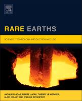 Rare earths [electronic resource] : science, technology, production and use