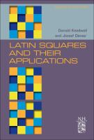 Latin squares and their applications [electronic resource]