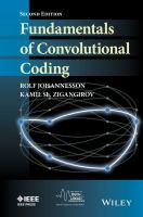 Fundamentals of convolutional coding [electronic resource]