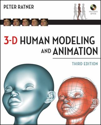 Book cover for 3-D human modeling and animation / illustrations and text by Peter Ratner