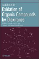 Oxidation of organic compounds by dioxiranes [electronic resource]